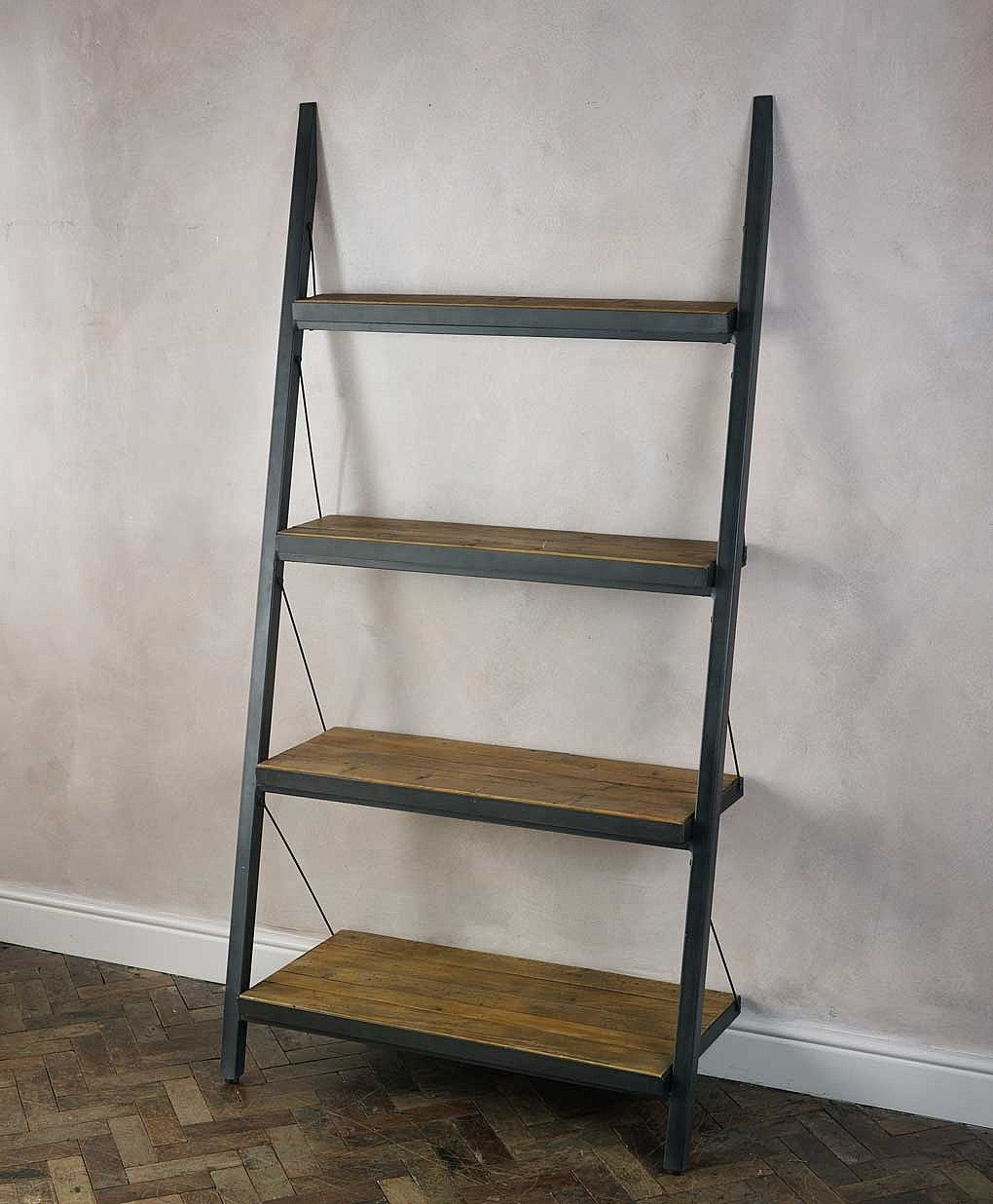 Baxter Industrial Shelving Design With Sloping Leaning
