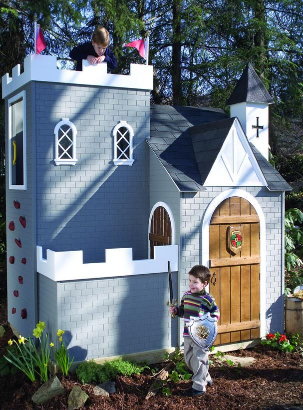 A Knights Outdoor Retreatcreating An Outdoor Space For Your Child Will Fuel His Imagination This Outdoor Castle Play Houses Playhouse Outdoor Playset Outdoor