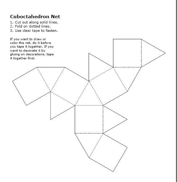 Cuboctahedron | anime | Pinterest | 3d shapes and 3d