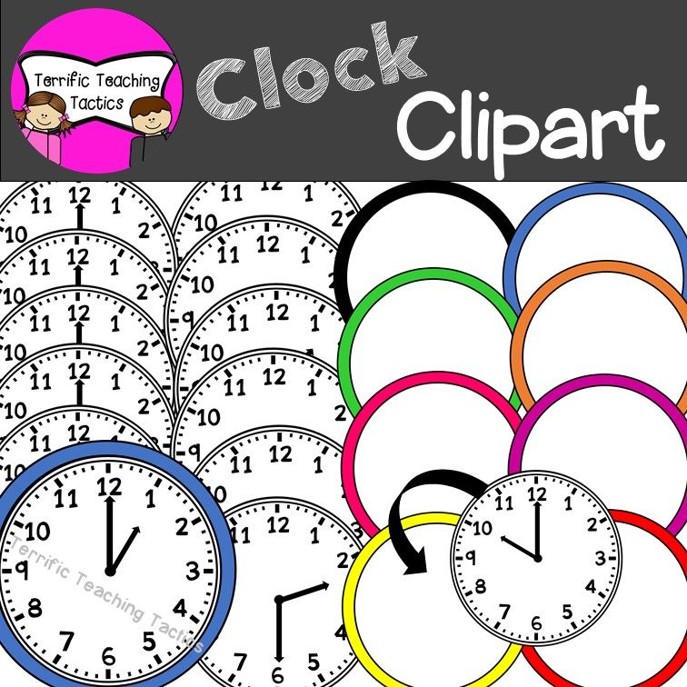 Clock Clip Art Telling Time To The Hour Half Hour Clip Art
