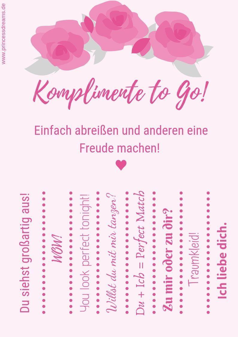 Komplimente To Go Eine Wunderschone Idee Fur Deine Hochzeit Bringe Diese Tollen Zettel In Deiner Hochze Komplimente Hochzeit Berlin Ideen Fur Die Hochzeit