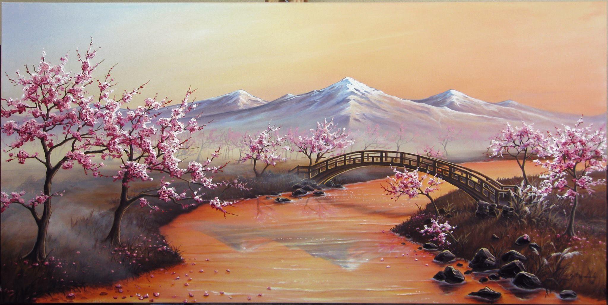 Photo Nature Plant Tree Cherry Blossom Sunshine Giant Wall Art Poster Print