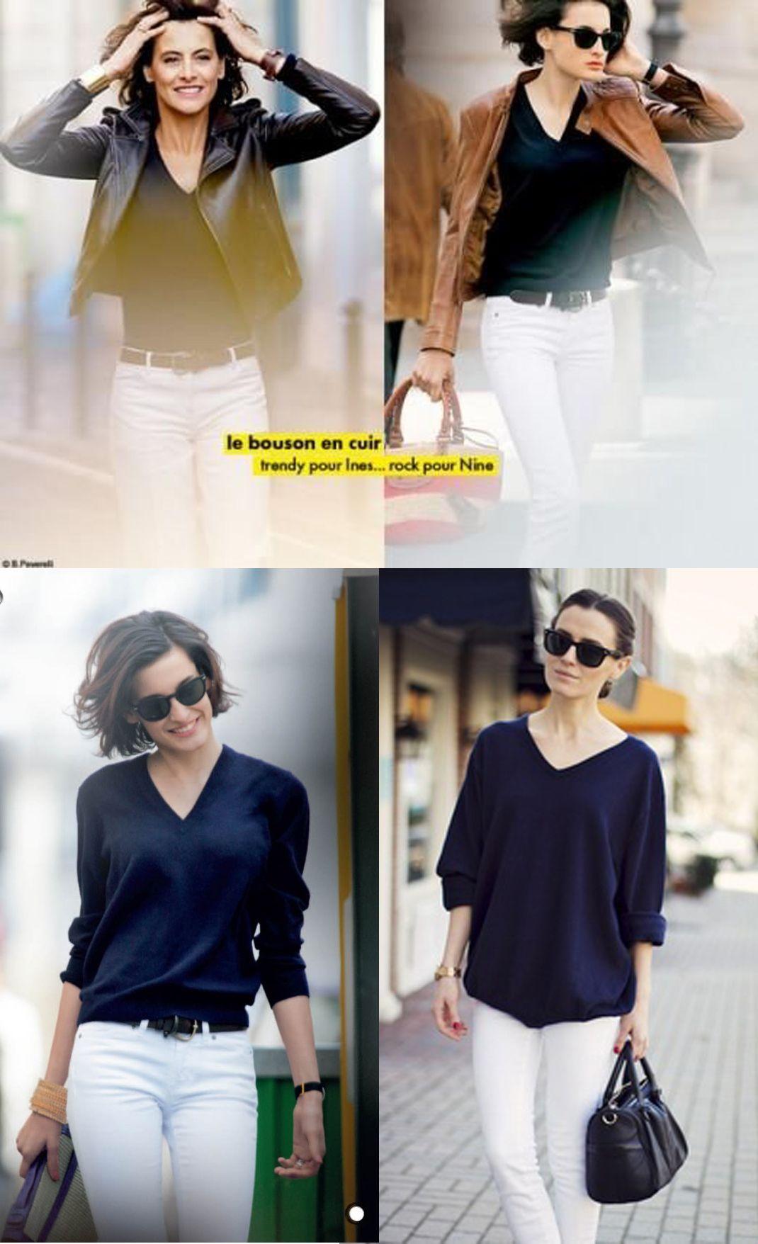c22612cd5b8 Dress Like A Parisian  Navy Cashmere Sweater in 2019