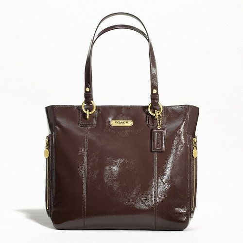 Coach Gallery Patent N S Zipper Tote Style F20432 N S Zip
