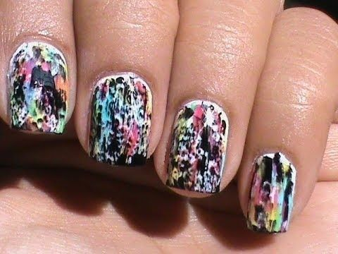 Color Acid Wash No Tools Beginners Nail Art Without Tools Easy