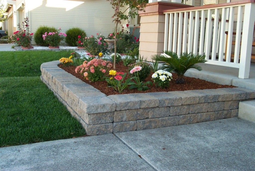 Weathered Stone Retaining Wall Garden Wall Landscaping