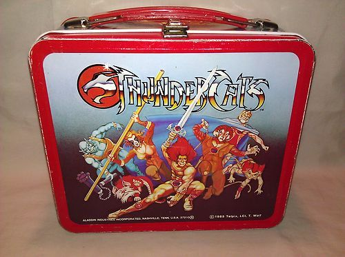d7b67dc60172 Vintage RARE 1985 Aladdin Brand Thundercats Metal Lunch Box No Thermos WOW
