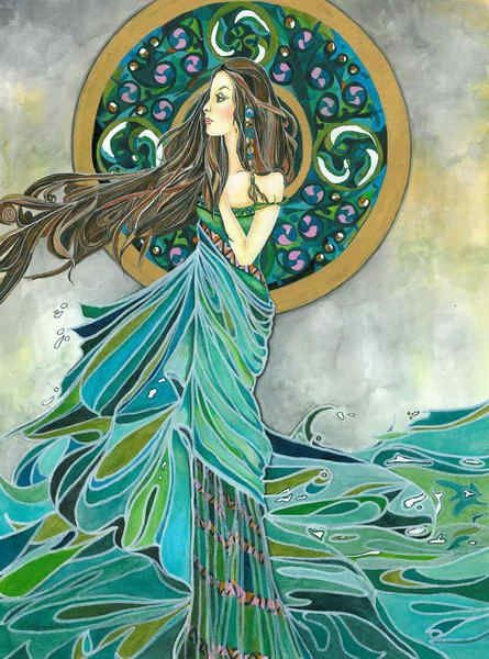 themagicfarawayttree:  Aine, Irish goddess of summer, wealth and sovereignty. In Christian times she became a fairy queen.