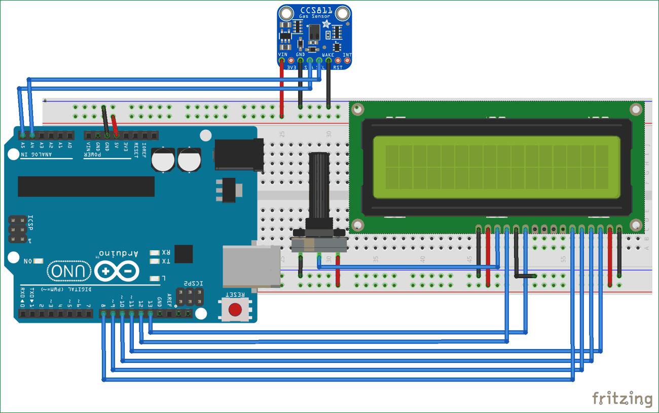 Circuit Diagram For Tvoc And Co2 Measurement Using Arduino An Experiment With Ldr Build Ccs811 Air Quality Sensor