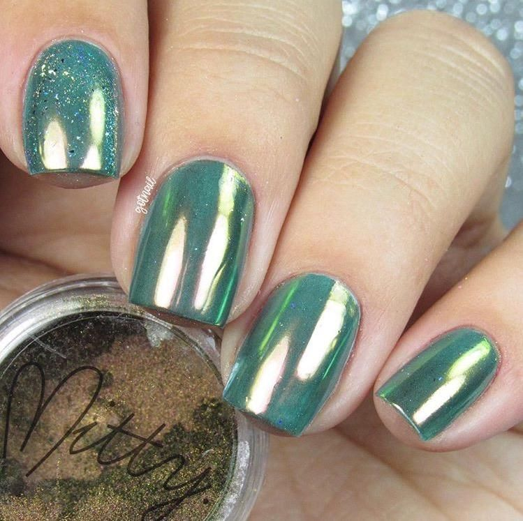 Mitty SUPER Chrome Nail Art Powder- Amber   Top Nail Art Designs ...