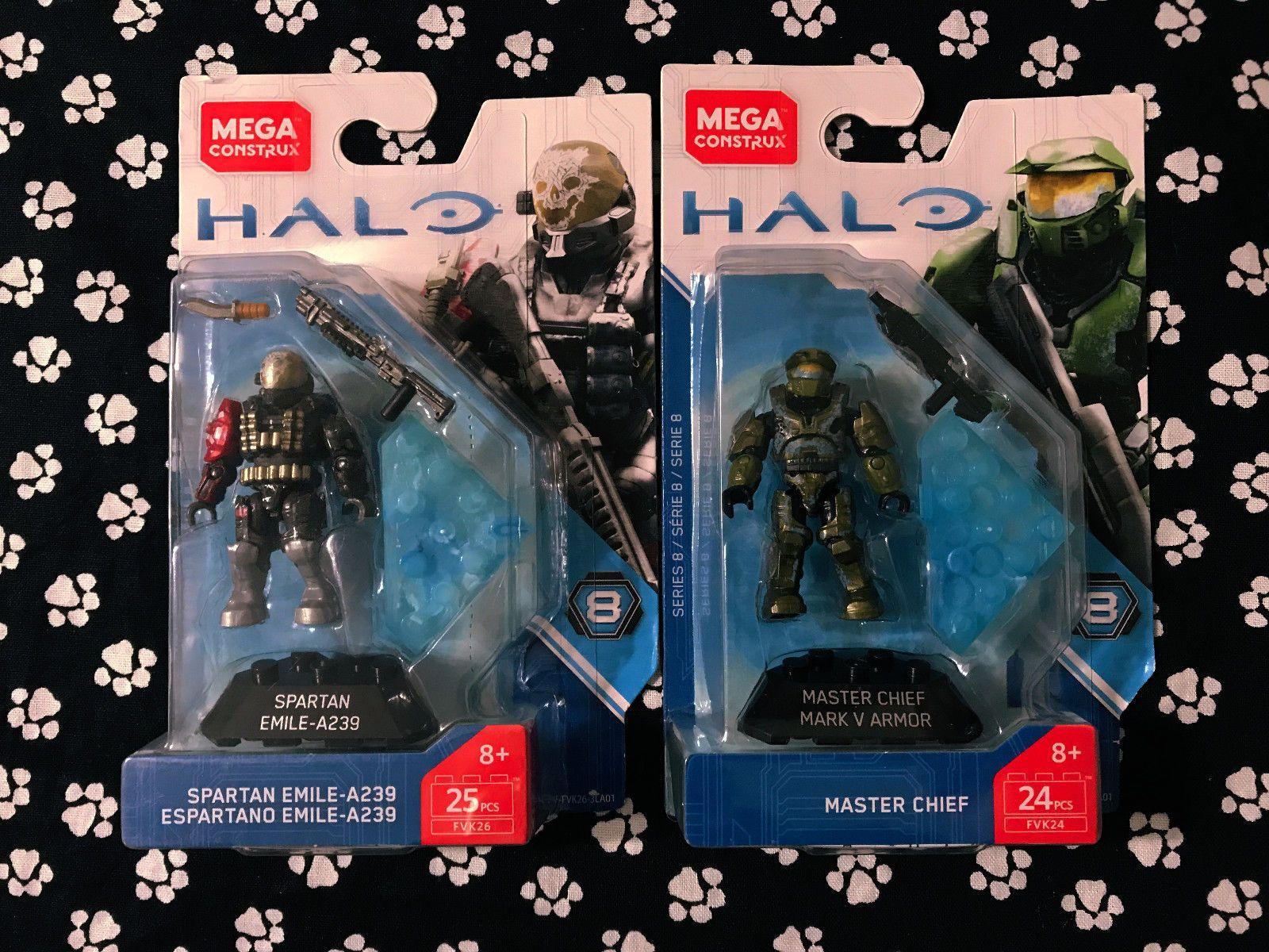 Mega Construx Heroes Halo Master Chief Mark V Armor Series 8 Micro Figure 24pcs