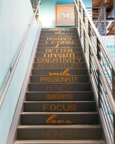 21 Attractive Painted Stairs Ideas Pictures: 30+ Beautiful Painted Staircase Ideas For Your Home Design