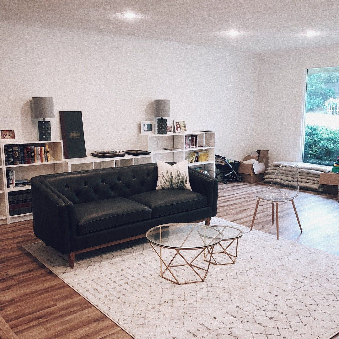 Our house is slowly but surely coming together Im thinking a round mirror in the middle and lots of minimalist art on the walls What do you guys think Swipe to see a low...