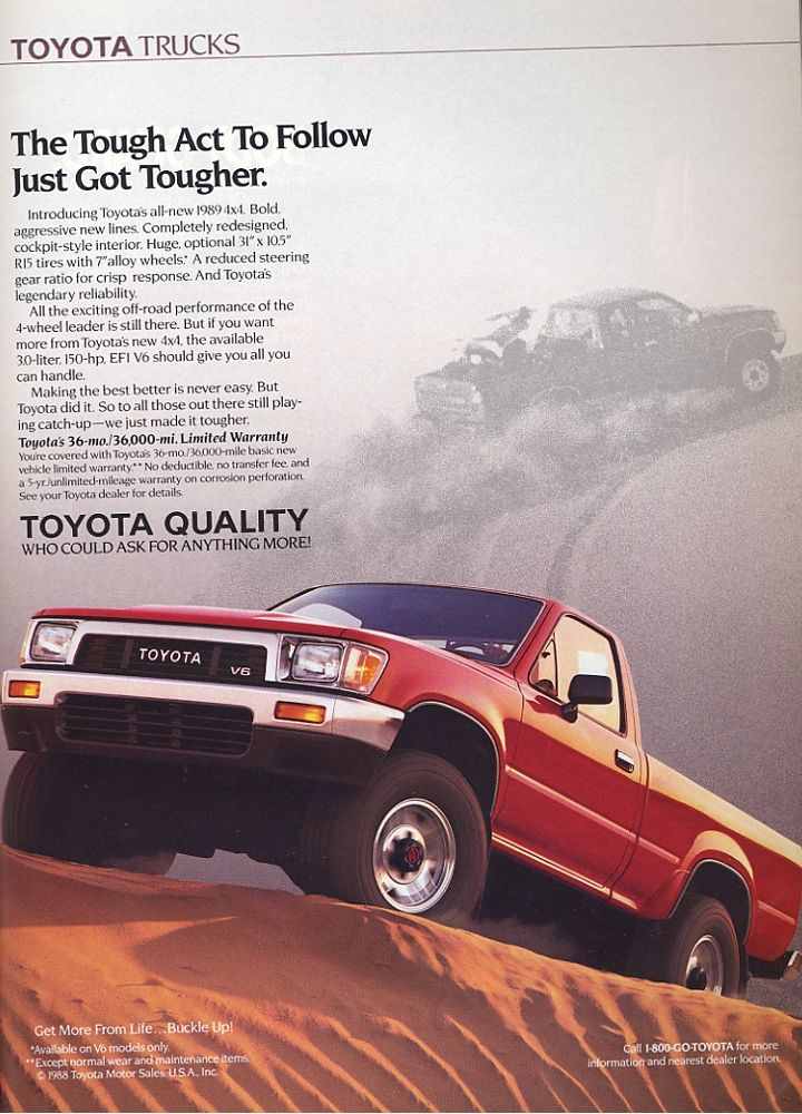 Old Toyota Truck Ads Chin On The Tank Motorcycle Stuff In Philadelphia In 2020 Toyota Trucks Toyota Trucks
