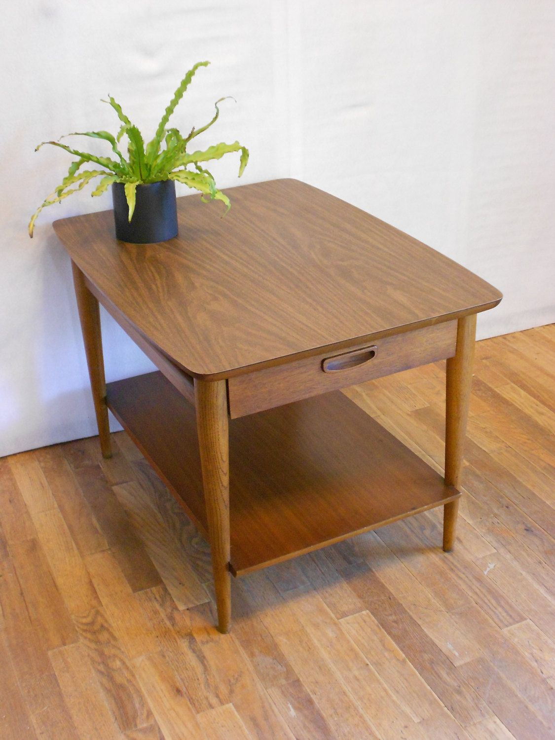 Reserved For IVY Lane Walnut Side Table With Drawer SkieShop - Walnut side table with drawer