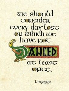Happy Hour Calligraphy Irish Half Uncial Classes