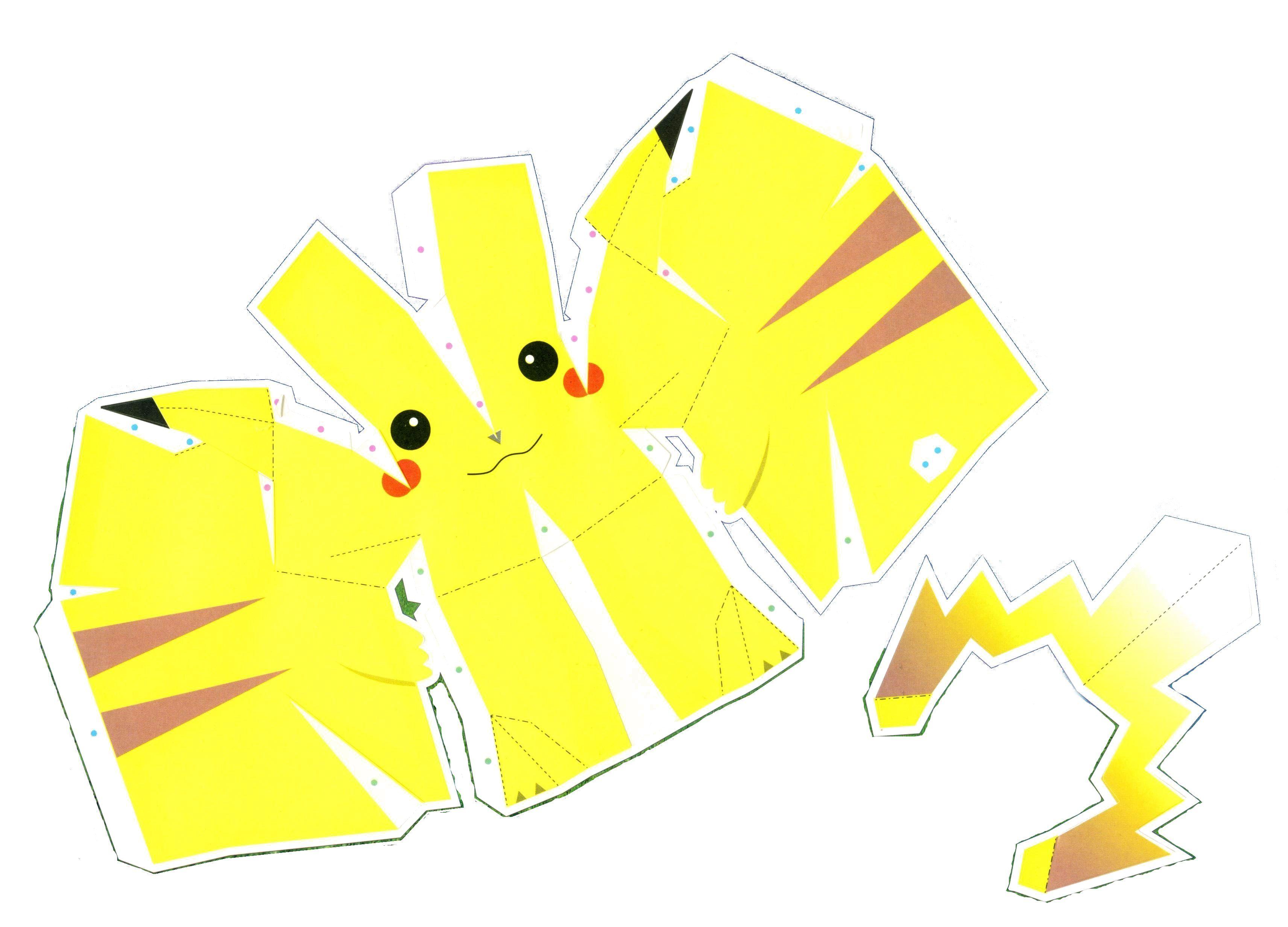 anime papercraft templates pikachu alternative versions po archives paper pinterest