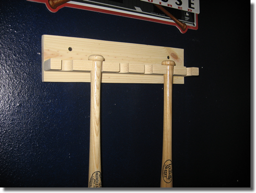 Six 6 Mini Baseball Bat Rack Ships Unfinished Or Your Choice Of Finish 29 99 Shipping