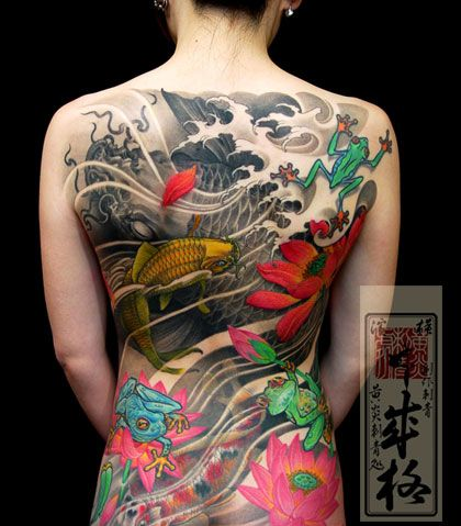 Full Back Asian Tattoos For Women Tattooshunt Com Japanese Tattoo Japanese Tattoo Designs Japanese Tattoo Art