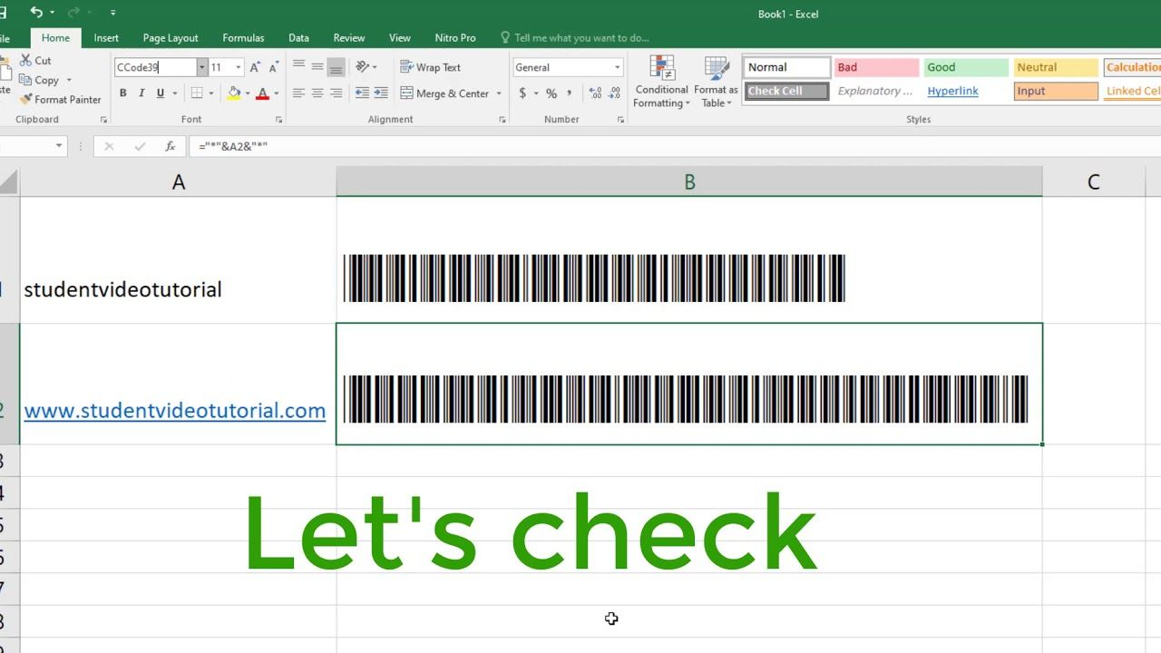 How to create BARCODE in Excel in 2020 Create barcode