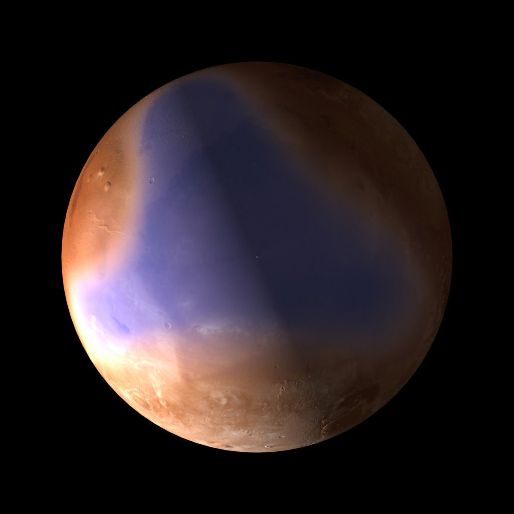 An Amazing Photograph Of The Planet Mars From The European Space Agency Planets Space Pictures Mars Space