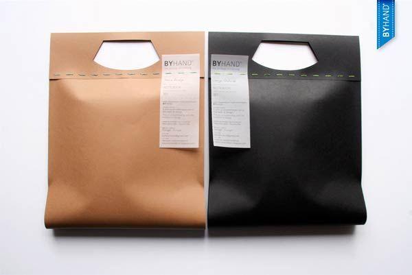 De Papieren Zak : Papieren zak met daaruit snoer de tas is de lamp thuis ophangen