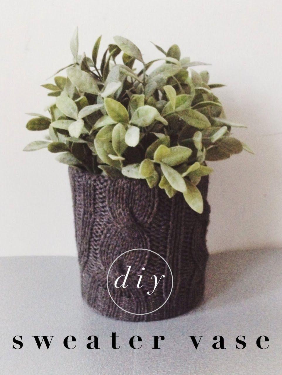radical possibility: DIY Knit Vase