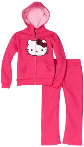 86dfb700836ca Hello Kitty Girls 4-6x Fleece Active-Wear Set With Sequin Bow | My ...