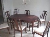Cherry dining table and 8 chairs 600
