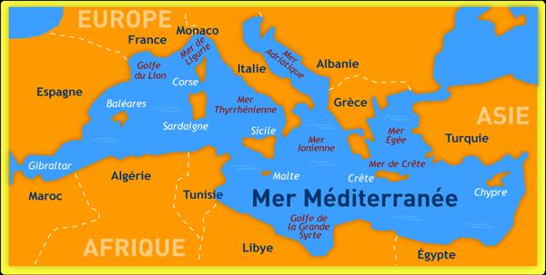 carte de la mediterranee