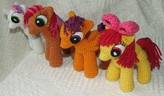 My Little Pony:  school-age ponies crochet patterns