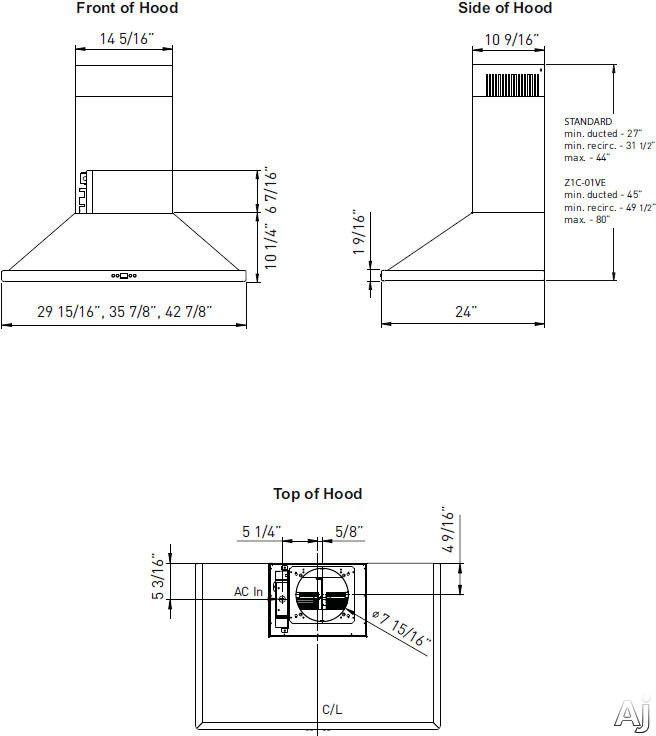 Zephyr Zvee36cs Pyramid Wall Hood With 5 Speed 715 Cfm Internal Blower 2 Level Hd Led Lighting Auto Delay Off O Wall Mount Range Hood Baffled Dishwasher Safe