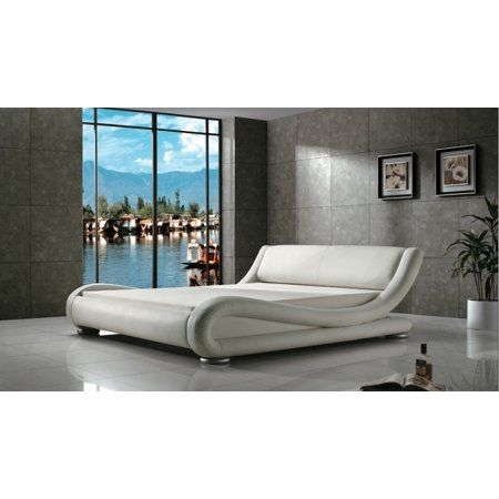 . Greatime B1070 Contemporary Upholstered Platform Bed  California