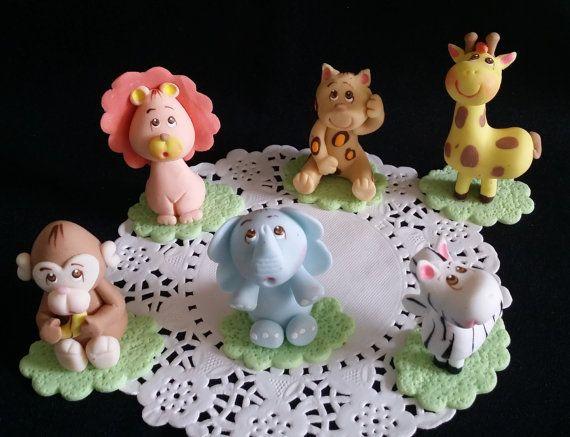 Jungle Cake Topper Safari Cake Topper Jungle by PartyFavorsMiami