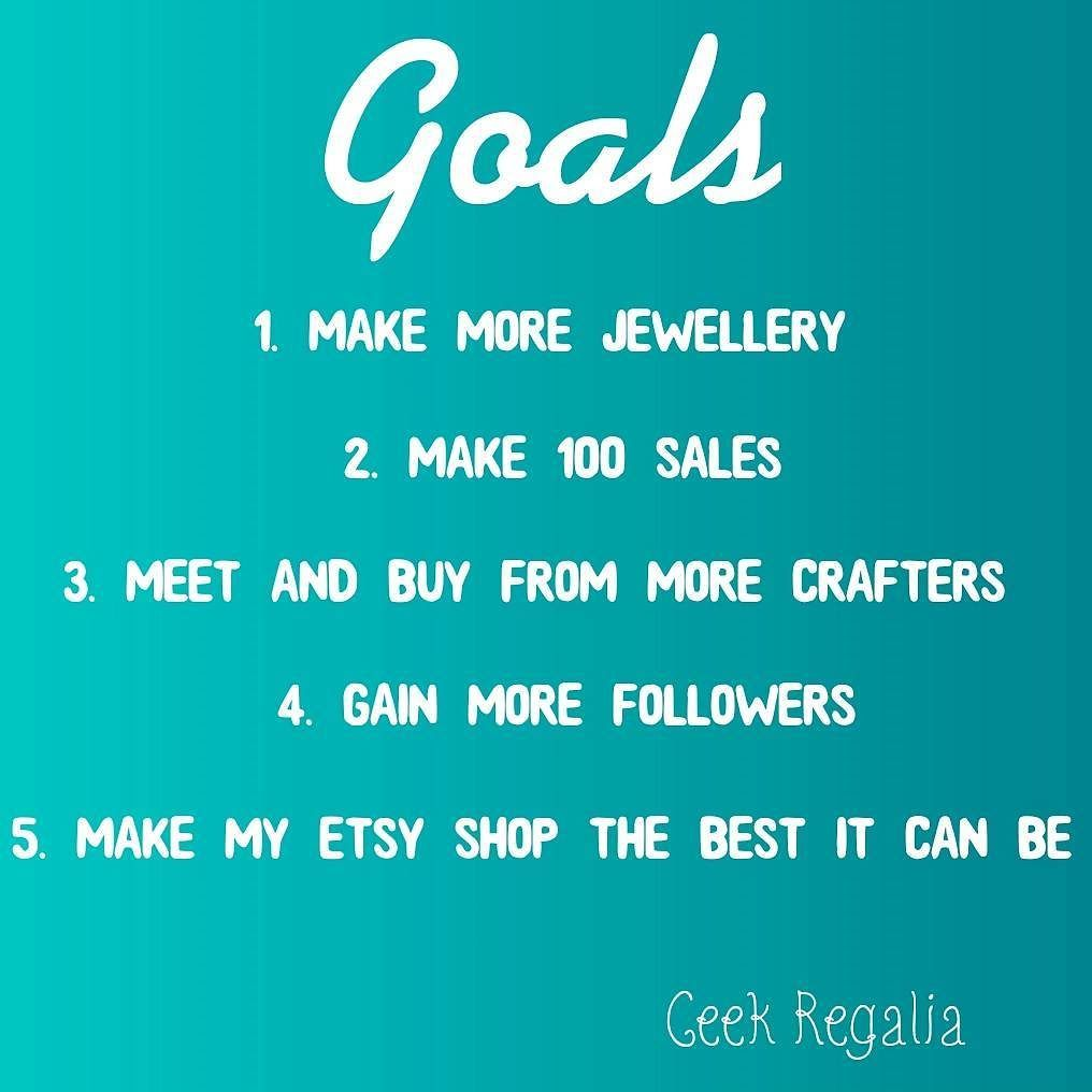 Day 9 of #marchmeetthemaker - Goals Here are my 5 main goals relating to my Etsy shop. I want to make more jewellery experiment with new techniques/materials and learn more about the craft. By the end of the year I will like to reach the goal of 100 sales. I want to meet more crafters and support their work. More followers/admirers on social media and Etsy would be great to achieve. Also I want to continue working on improving my Etsy shop - photography branding and marketing are some of the…