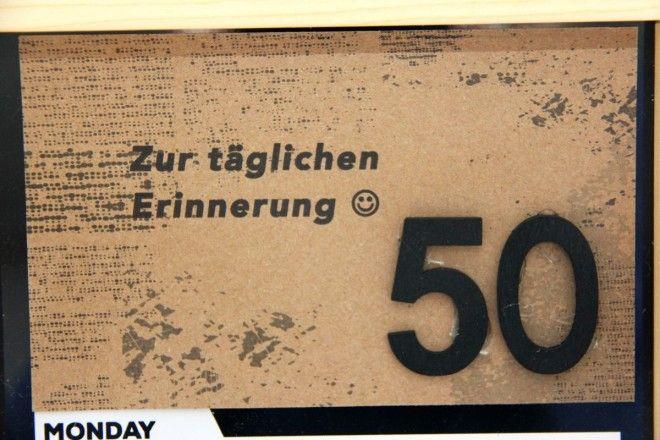 Zur täglichen Erinnerung! Ein Geldgeschenk zum 50. Geburtstag ...
