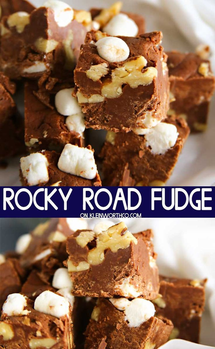Rocky Road Fudge is an easy 4 ingredient holiday fudge recipe that is incredibly simple to make. Gift it has gifts to the neighbors, teachers and friends. Rocky Road Fudge is an easy 4 ingredient holiday fudge recipe that is incredibly simple to make. Gift it has gifts to the neighbors, teachers and friends.