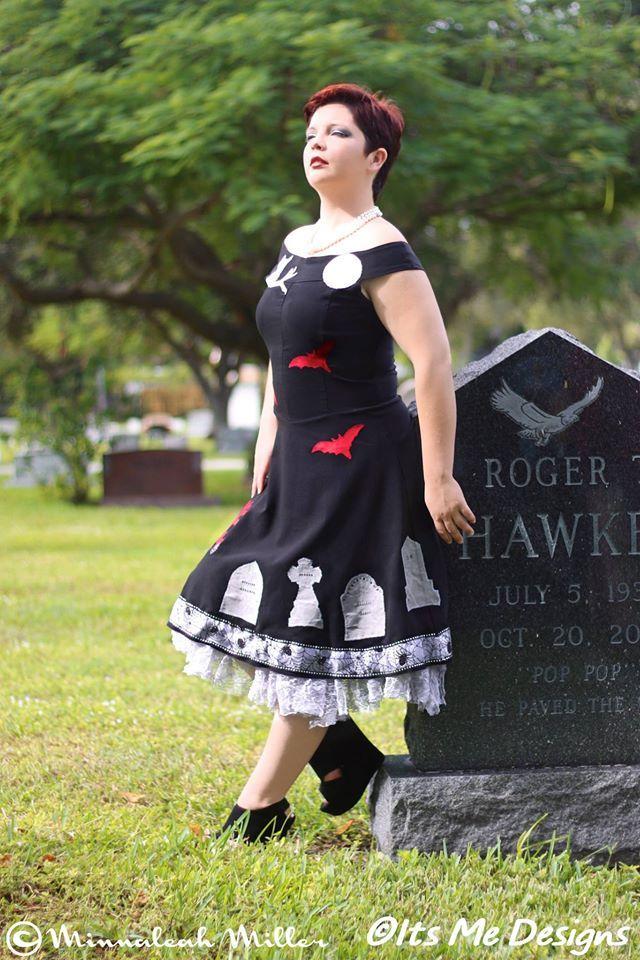 896627a2545 graveyard scene dress cobweb crinoline OOAK