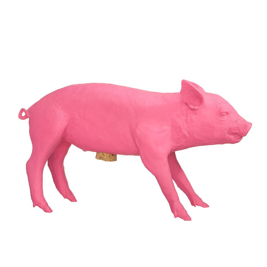 This iconic piggy bank holds up to 10,000 bills.