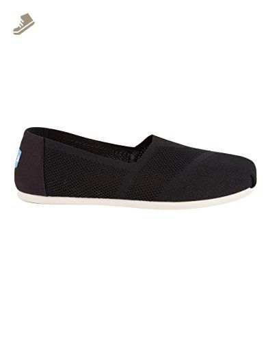 TOMS Classic Black Shearling Womens Espadrilles Shoes-8 9YU4MH