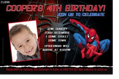 Spiderman Invitation Templates Birthday Party