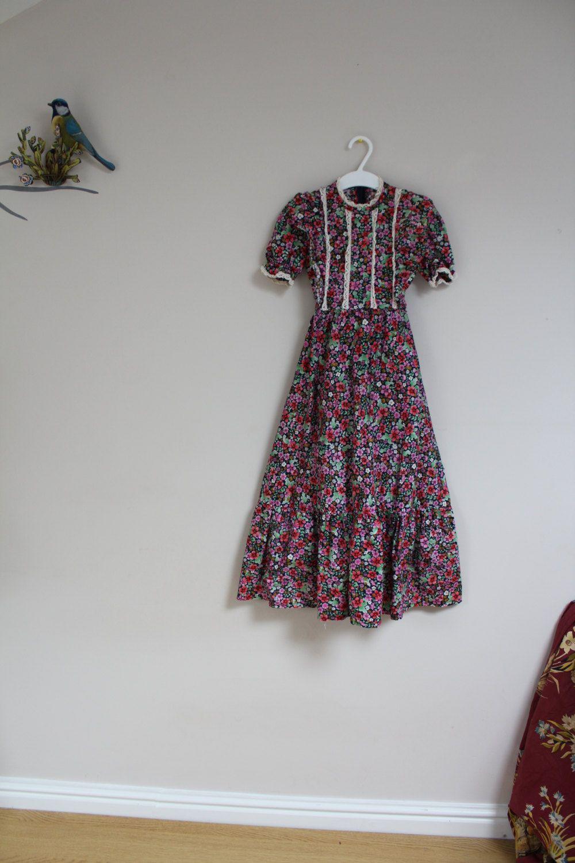 Vintage girls dress maxi girls dress s girls dress cotton girls