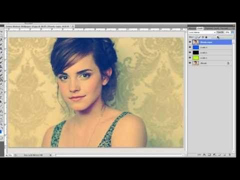 Tutorial Effetto Vintage Vintage Effect Colori Freddi Cold Colors Ps Cs5 Emma Watson Short Hair Hacks Emma Watson Tutorial