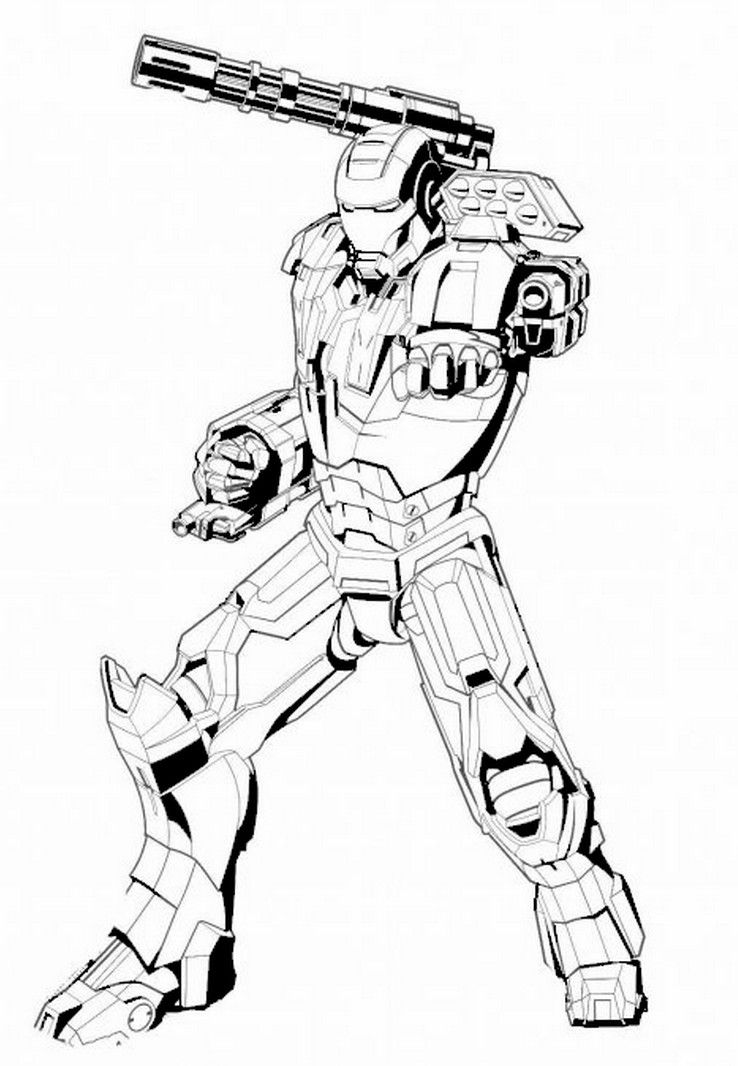 Coloriage The Avengers Iron Man Drawing Marvel Coloring