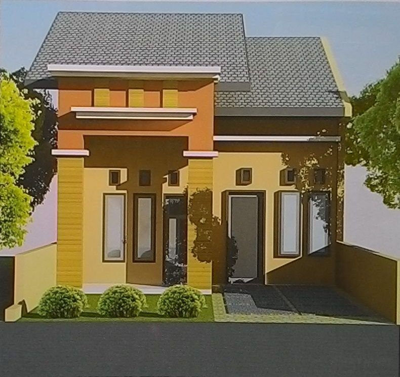 Wonderful Front Design Of Very Small House Part - 11: Front View Tiny House Design With Color Game