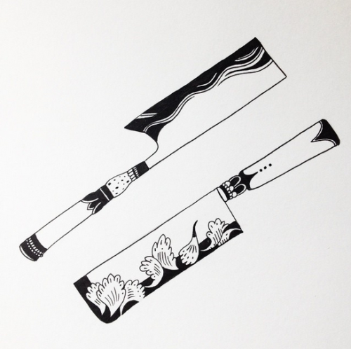 Exclusive Look At Two Usuba Knife Tattoo Designs For Bb