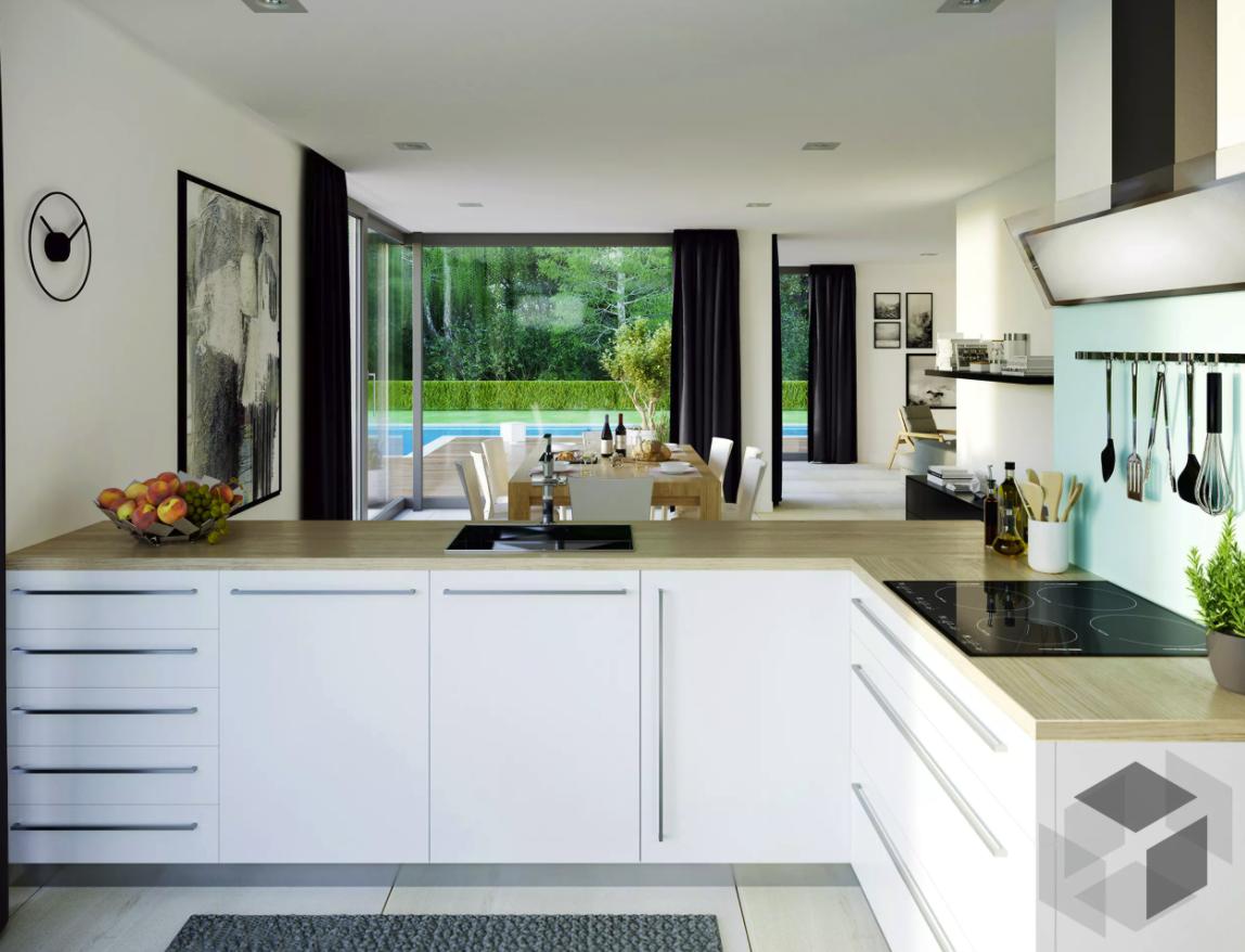 Kuchen Impression Aus Einem Bien Zenker Haus Auf Der Fertighaus De Webseite Findest Du Eine Gross Fertighauser Moderne Home Plane Moderne Hausentwurfe