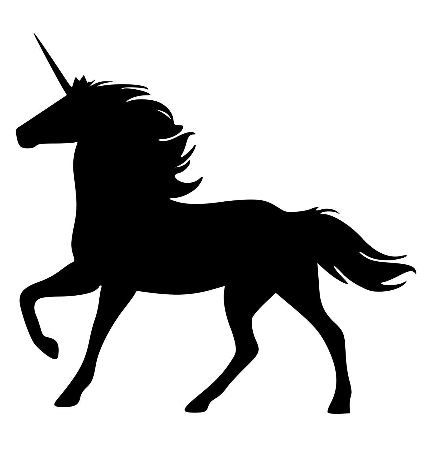 Horse Unicorn Wall Decal Horse Sticker Fairy Tale Unicorn 28 Inches X 26 Inches 782 Hs Feen Silhouette Clipart Kostenlos Pferde Silhouette