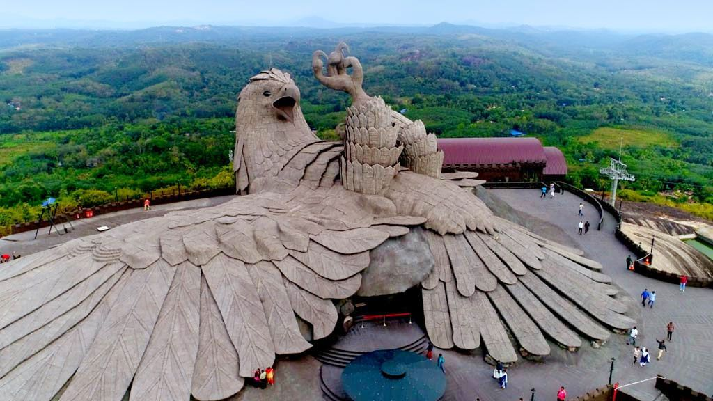 Jadayupara The Largest Bird Sculpture In The World Jatayu Earth