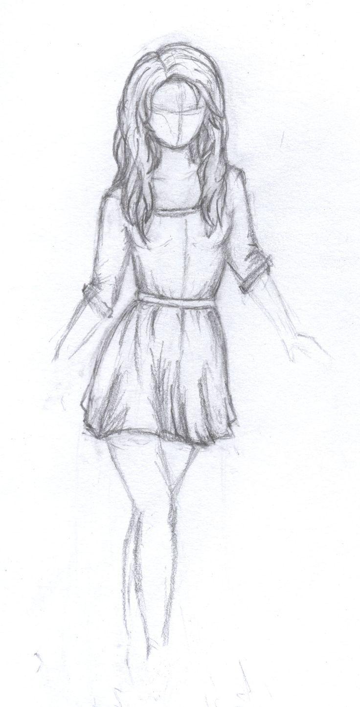 Resultado de imagem para easy drawings of girls